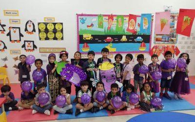 City School KG Students Celebrated Purple Day.