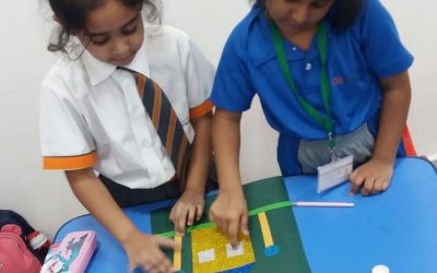 City School Grade 1 Students Exploring And Learning About Shapes